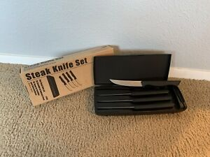 Pampered Chef Steak Knife Set of 4 - #1035 with Sharpening and Honing (NEW)