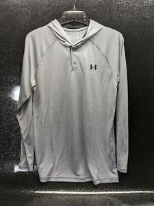 Under Armour UA Tech Popover Hoodie Gray Hooded Shirt Style 1274511 Men's Small $25.95