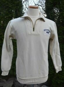 GETTYSBURG COLLEGE PA. Mens Small Light Yellow 1 4 Zip Up Pullover SWEATSHIRT $27.99