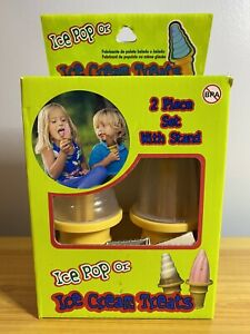 NEW NIB Ice Cream or Popsicle Mold Set of 2 With Stand, Ice Pop Molds.