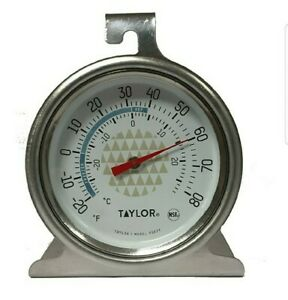 Taylor Tru Temp Refrigerator-Freezer Thermometer - Durable Stainless Steel- New