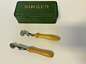 Vintage Sewing Spools Threads Singer Tin Box Needles Pattern CraftsCollectibles $29.95