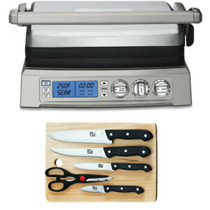 Cuisinart GR-300 Griddlel w/ 5 Piece Stainless Steel Knife Set & Cutting Board