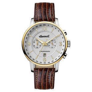 Ingersoll Men#x27;s I00602 Grafton White Dial 42mm Leather Watch $59.99