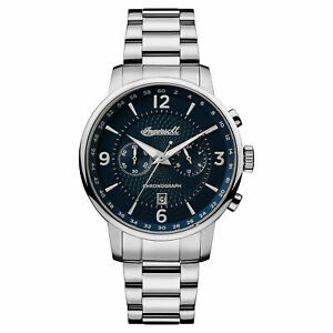Ingersoll Men#x27;s I00605 Grafton Blue Dial 42mm Stainless Steel Watch $74.46