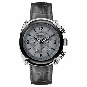 Ingersoll Men#x27;s I01201 Michigan Gray Dial 45mm Leather Watch $74.99