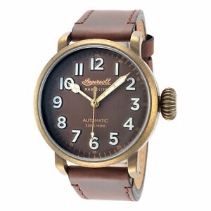 Ingersoll Men#x27;s I04801 Linden Brown Dial 46mm Leather Watch $94.99