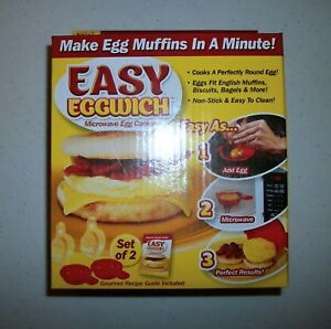 Easy Eggwich Microwave Egg Cooker (Two In One Box)
