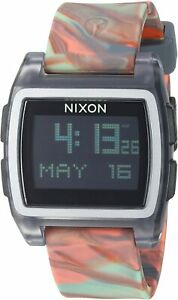 Nixon Women's Base Tide A11043178 00 38mm Black Dial Silicone Watch