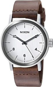 Nixon Men's Stark A11942092 00 42mm White Dial Leather Watch