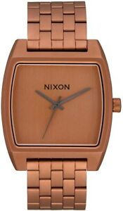 Nixon Women's Time Tracker A12453165 00 37mm Brown Dial Stainless Steel Watch