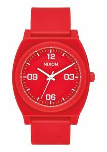 Nixon Men's Time Teller P A12483008 00 40mm Red Dial Polyurethane Watch