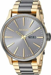 Nixon Men's Sentry SS A356595 00 42mm Gray Dial Stainless steel Watch