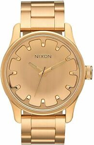 Nixon Men's Driver A979502 00 42mm Rose Gold Dial Stain Watch