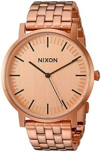 Nixon Men's Porter A1057897 00 40mm Rose Gold Dial Stainless Steel Watch