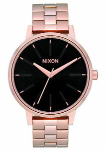 Nixon Women's Kensington A0991098 00 37mm Black Dial Stainless Steel Watch