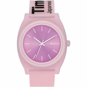 Nixon Women's Time Teller P A1193170 00 40mm Pink Dial Rubber Watch