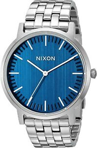 Nixon Men's Porter A1057307 00 40mm Blue Dial Stainless Steel Watch