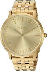 Nixon Men's Porter A1057502 00 40mm Gold Dial Stainless Steel Watch