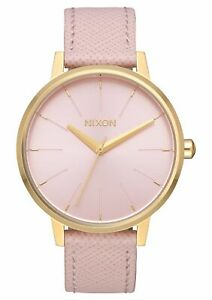 Nixon Women's Kensington A1082813 00 37mm Pink Dial Leather Watch