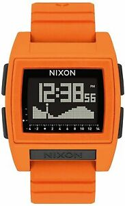 Nixon Women's Base Tide A1212211 00 38mm Black Dial Silicone Watch