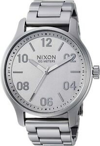 Nixon Men's Patrol A12423166 00 42mm Gray Dial Stainless Steel Watch