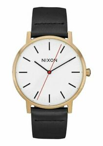 Nixon Men's Porter A10583157 00 40mm White Dial Leather Watch
