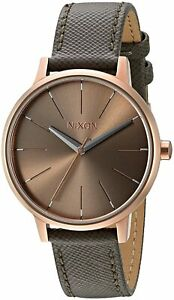 Nixon Women's Kensington A1082214 00 37mm Brown Dial Leather Watch