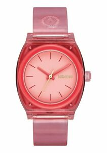 Nixon Women's Medium Time Teller P A1215685 00 31mm Red Dial Watch