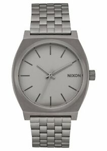 Nixon Men's Time Teller A0453166 00 37mm Gray Dial Stainless Steel Watch