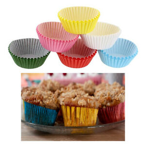 200 Pc Colorful Paper Baking Cups Cupcake Liners Muffin Cake Mold Assorted