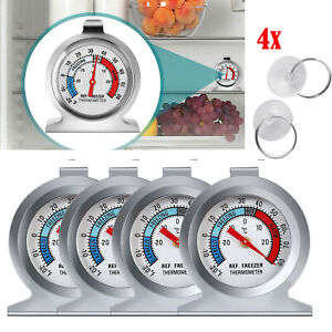 4Pack Refrigerator Freezer Thermometer Fridge w Hook Max Min Record Screwdriver $17.65