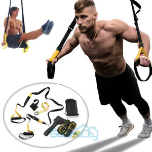 Suspension Trainer Kit Bodyweight Resistance Straps Home Gym Fitness Training $34.87