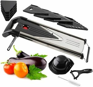 Improved V Blade Food & Vegetable Mandoline Slicer Great For Potatoes, Onions, 5