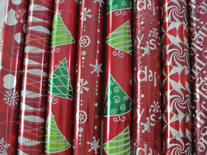 9 Rolls Foil Gift Wrapping Paper 7 Different Designs