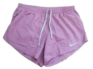 Nike Women's Dry Mod Tempo EMB Plum Dust Running Shorts Size M $34.95