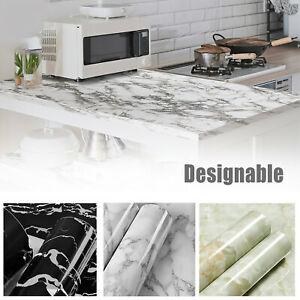 Gloss Marble Contact Paper Self Adhesive Wallpaper Sticker Kitchen Peel