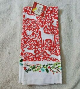 Holiday Time Christmas 15quot;x25quot; Kitchen Towel NWT A 2