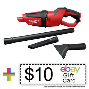 Milwaukee 0850 20 M12 Li Ion Compact Vacuum Tool Only New $10 eBay Gift Card