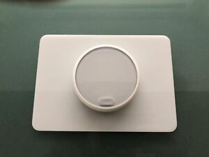 Replacement Trim Wall Plate for NEST Gen 1, 2, 3 & E Thermostat, 5x7 Shiny White