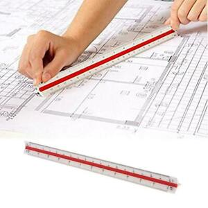 30cm Triangular Tri Scale Plastic Ruler Architect Engineers New Rul CL $2.90