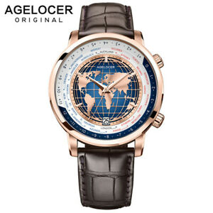 AGELOCER WORLD Timepiece SWITZERLAND Art of Watch Manufacturing 27 Jewels 80H PR
