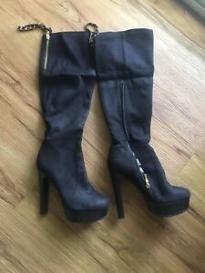 Womens high heel Boots Suede Leather sizes 78 $44.00