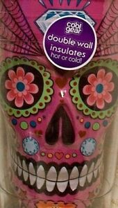 NEW Cool Gear Tumbler PINK SUGAR SKULL Double Insulated Water Drink Cup 18 fl oz