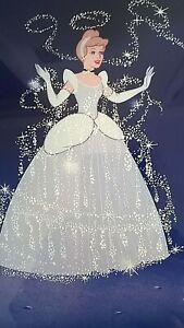 Disney Exclusive Cinderella Fairy Godmother Lithograph 1995 Matted and Framed $14.99