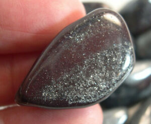 1 Polished Ancestralite Pocket Stone Crystal Chakra Wicca Grounding 25745E