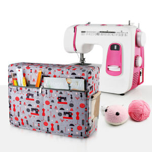 Universal Quilted Sewing Machine Dust Cover with Pockets Carrying Storage Bag $20.63