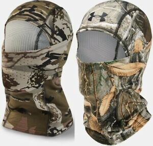 Under Armour Mens UA Camo ColdGear Infrared Hood OSFA CGI Balacalava Facemask $34.99