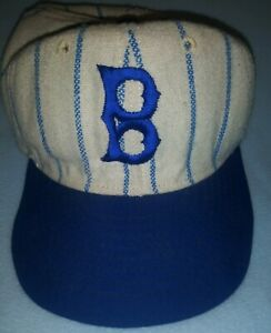 Vintage Brooklyn Dodgers Pinstripe Made In The Usa Hat ⚾ 🇺🇸 Mlb $48.99