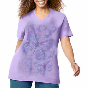 Just My Size Womens Short Sleeve Graphic Tee $13.86